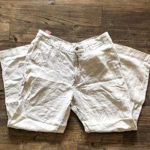 Perry Ellis Men's Casual Linen Beige Pants